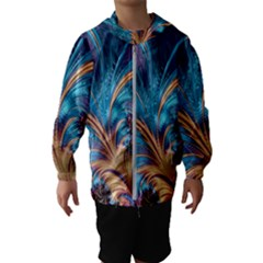 Fractal Art Artwork Psychedelic Hooded Windbreaker (kids)