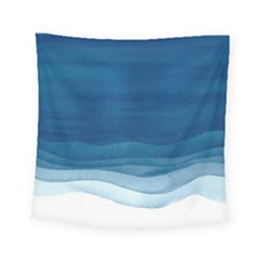 Blue Watercolor Waves Square Tapestry (small) by goljakoff