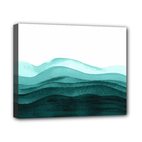 Azure Ocean Waves Canvas 10  X 8  (stretched) by goljakoff