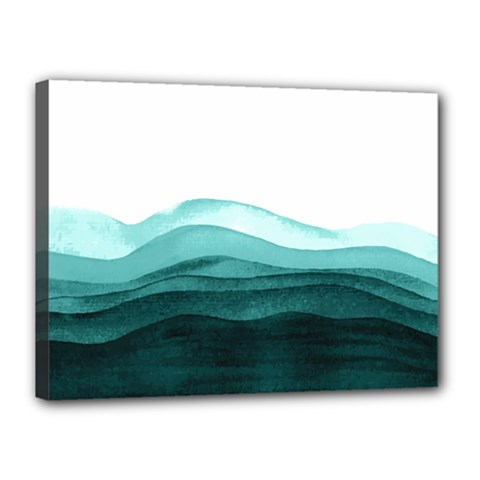 Azure Ocean Waves Canvas 16  X 12  (stretched) by goljakoff