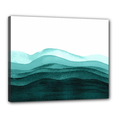 Azure Ocean Waves Canvas 20  X 16  (stretched) by goljakoff