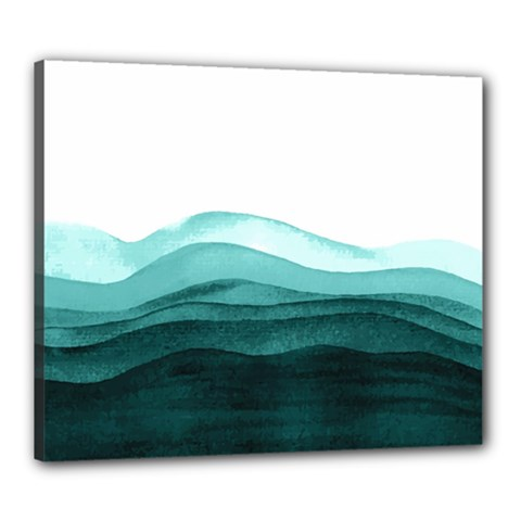Azure Ocean Waves Canvas 24  X 20  (stretched) by goljakoff