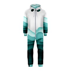 Azure Ocean Waves Hooded Jumpsuit (kids) by goljakoff