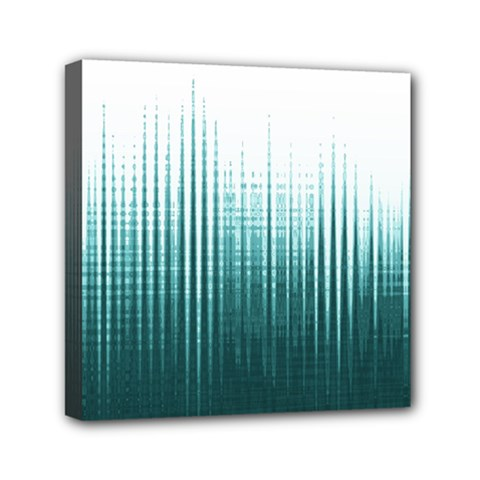 Azure Noise Waves Mini Canvas 6  X 6  (stretched) by goljakoff