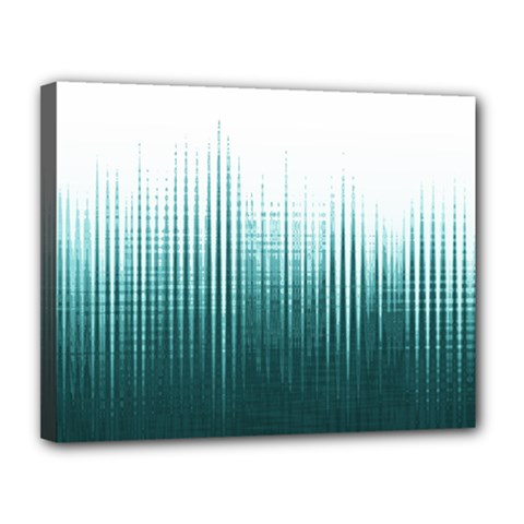 Azure Noise Waves Canvas 14  X 11  (stretched) by goljakoff