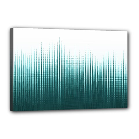 Azure Noise Waves Canvas 18  X 12  (stretched) by goljakoff