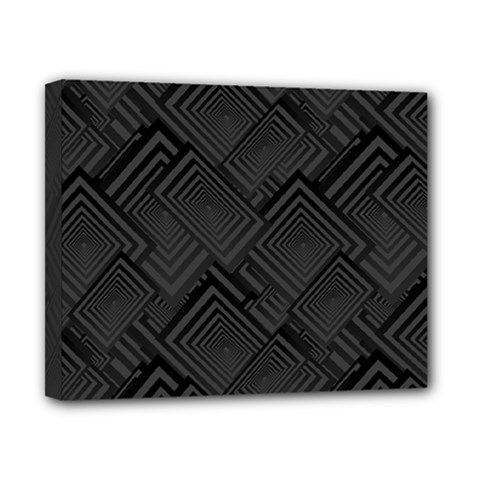 Diagonal Square Black Background Canvas 10  X 8  (stretched)