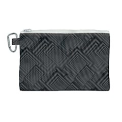 Diagonal Square Black Background Canvas Cosmetic Bag (large)