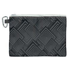 Diagonal Square Black Background Canvas Cosmetic Bag (xl)