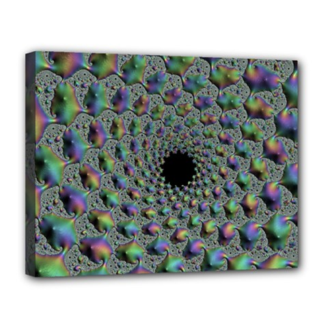 Fractal Rainbow Art Artwork Design Canvas 14  X 11  (stretched)