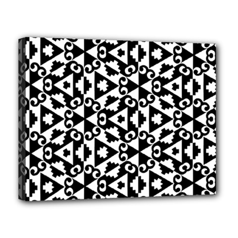 Geometric Tile Background Canvas 14  X 11  (stretched)