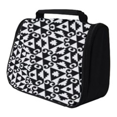 Geometric Tile Background Full Print Travel Pouch (small)