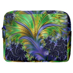 Fractal Gothic Dark Texture Make Up Pouch (large)