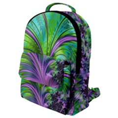 Fractal Art Artwork Feather Swirl Flap Pocket Backpack (small)