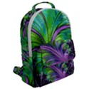 Fractal Art Artwork Feather Swirl Flap Pocket Backpack (Large) View2