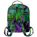 Fractal Art Artwork Feather Swirl Flap Pocket Backpack (Large) View3
