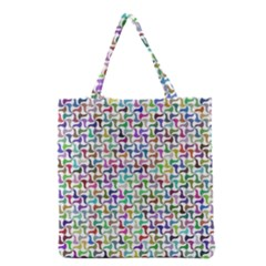 Geometric Floral Shape Geometrical Grocery Tote Bag by Pakrebo