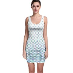 Square Pattern Geometric Blue Bodycon Dress