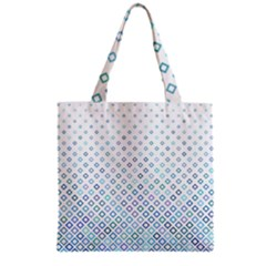 Square Pattern Geometric Blue Grocery Tote Bag