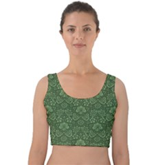 Damask Pattern Victorian Vintage Velvet Crop Top