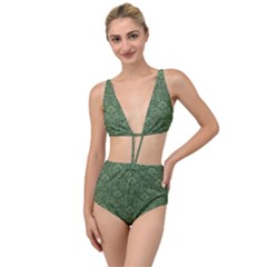 Damask Pattern Victorian Vintage Tied Up Two Piece Swimsuit