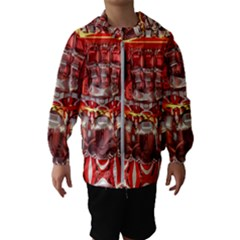 Mechanical Droid Mandelbulb Hooded Windbreaker (kids)