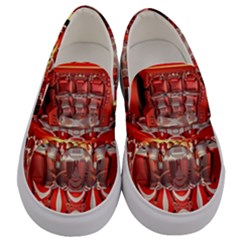 Mechanical Droid Mandelbulb Men s Canvas Slip Ons