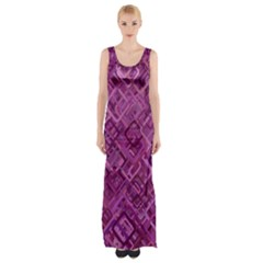 Purple Pattern Background Maxi Thigh Split Dress