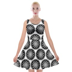 Pattern Swirl Spiral Repeating Velvet Skater Dress