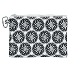 Pattern Swirl Spiral Repeating Canvas Cosmetic Bag (xl)