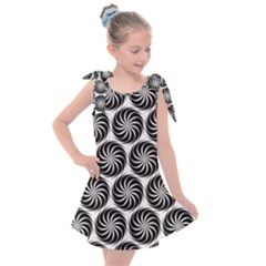 Pattern Swirl Spiral Repeating Kids  Tie Up Tunic Dress