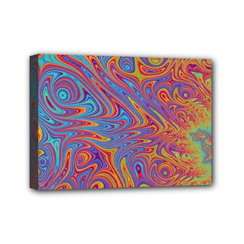 Fractal Psychedelic Fantasy Surreal Mini Canvas 7  X 5  (stretched)