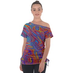 Fractal Psychedelic Fantasy Surreal Tie Up Tee