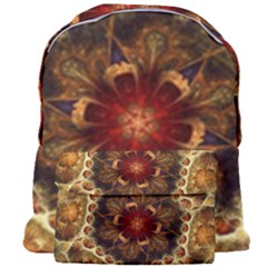 Dawn Day Fractal Sunny Gold Red Giant Full Print Backpack