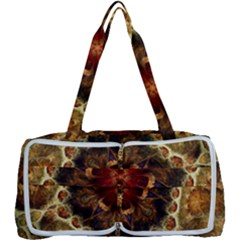 Dawn Day Fractal Sunny Gold Red Multi Function Bag
