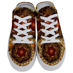 Dawn Day Fractal Sunny Gold Red Half Slippers