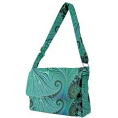 Fractal Artwork Fan Shape Art Full Print Messenger Bag
