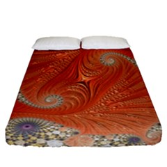 Fractal Art Artwork Pattern Fractal Fitted Sheet (queen Size)