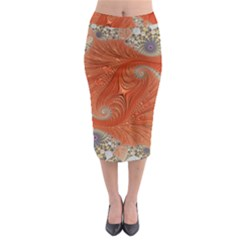 Fractal Art Artwork Pattern Fractal Midi Pencil Skirt