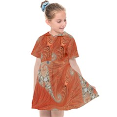 Fractal Art Artwork Pattern Fractal Kids  Sailor Dress by Pakrebo