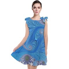 Fractal Artwork Artwork Fractal Art Tie Up Tunic Dress