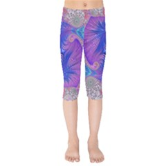 Fractal Artwork Art Design Kids  Capri Leggings  by Pakrebo