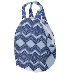 Textile Texture Fabric Zigzag Blue Travel Backpacks