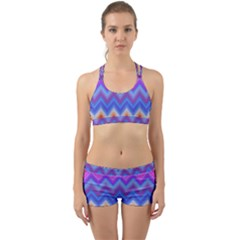 Pattern Chevron Zigzag Background Back Web Gym Set