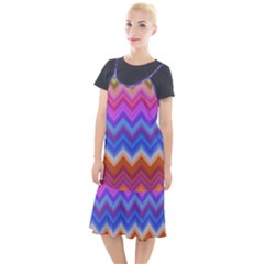 Pattern Chevron Zigzag Background Camis Fishtail Dress