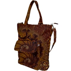 Copper Caramel Swirls Abstract Art Shoulder Tote Bag
