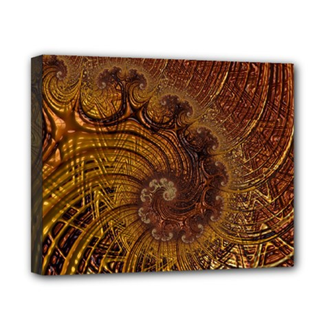 Copper Caramel Swirls Abstract Art Canvas 10  X 8  (stretched)