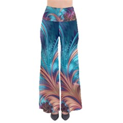 Feather Fractal Artistic Design So Vintage Palazzo Pants by Pakrebo