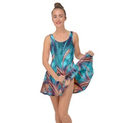 Feather Fractal Artistic Design Inside Out Casual Dress