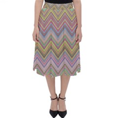 Chevron Colorful Background Vintage Classic Midi Skirt
